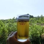 アサヒビール工場見学で、出来立てビール