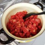 自家製ボンリッシュでトマトソース作り